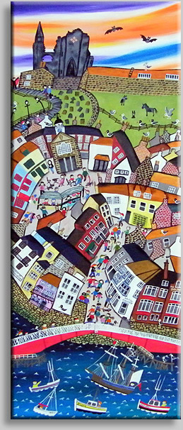 Appleyard Art - quirky naive paintings of Sheffield, Derbyshire, Scotland, Coastal Britain and Underwater themes